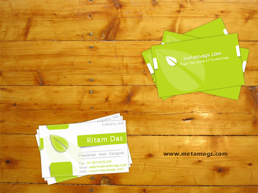 Business Card PSD Template by metamag Business Card Design: Useful Tutorials, Source Files and Templates