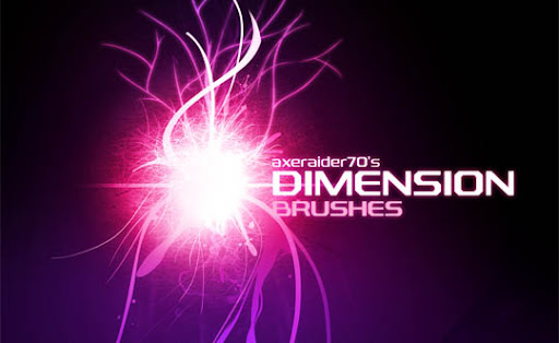 Dimension Brushes by Axeraider70 1000+ Beautiful Abstract Light Photoshop Brushes for Light Effects