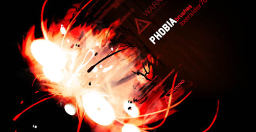 Phobia Brushes by Axeraider70 1000+ Beautiful Abstract Light Photoshop Brushes for Light Effects