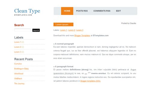 Clean+Type Blogger Toolbox: Fresh, Free and Stunning Blogger Templates