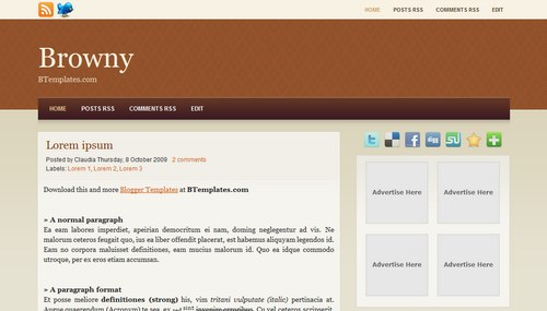 Browny Blogger Toolbox: Fresh, Free and Stunning Blogger Templates