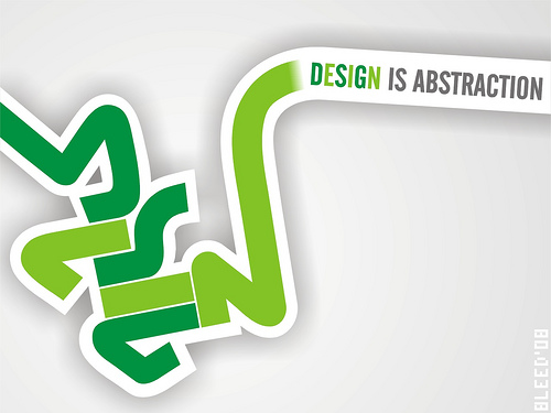 "Design+is+Abstraction 70+ Super Creative Wallpapers ""About Design"""