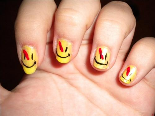 "Watchmen Nails by Princespurple107+ chethstudios.net 45 Gorgeous ""Smiley Fingers"" Photographs"