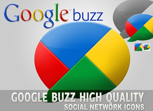 Google+Buzz+Download+Icons Google Buzz Social Icons for Bloggers and Designers