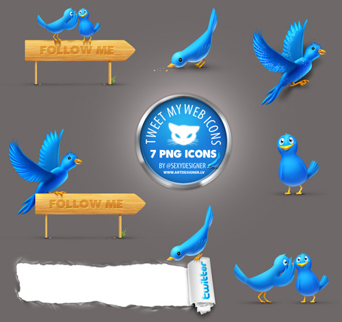 Twitter Icons TweetMyWeb 7 PNG by LazyCrazy Fresh and Exceptional Twitter Bird Design Icons