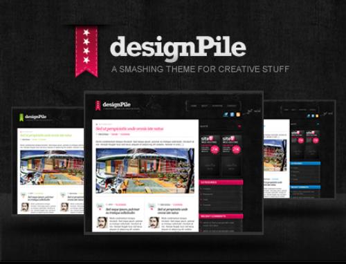 Free+Dark+and+Clean+WordPress+Theme+Designpile Best of the Web: Design Community February 2010