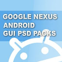 Google Nexus One, Android GUI PSD Packs For Designers
