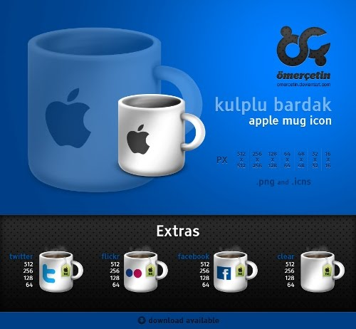 apple+mug+social+icons 10 Fresh and Unique High Quality Social Network Icon Sets