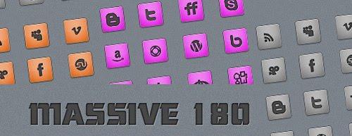 %2B180+Massive+Minimalistic+Icon+set Best of the Web: Design Community March 2010