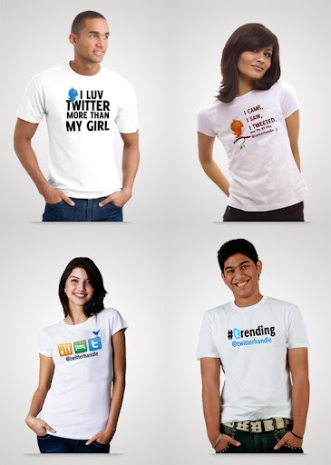 Twitter+T shirts+Design Twitter Customised T Shirt Designs