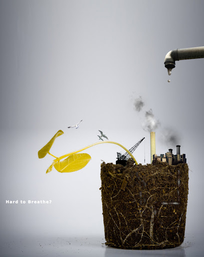 GreenPeace Anti Pollution Ad by flipn7 Inspirational Posters and Advertisements Dedicated to Earth Day | Part 1