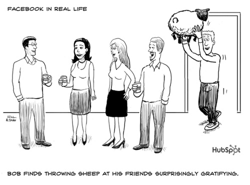 Facebook+in+Real+Life+Throwing+Sheep 40+ Hilarious Facebook Comic Strips