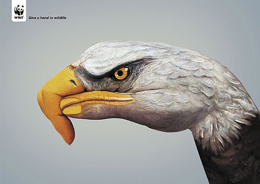 Give+a+Hand+to+Wildlife+Eagle 27 Alarming Advertisements Dedicated to Earth Day | Part  2
