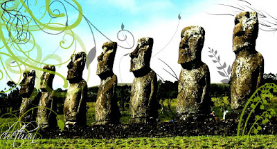 7 seven wonders of the world edited Easter Islands