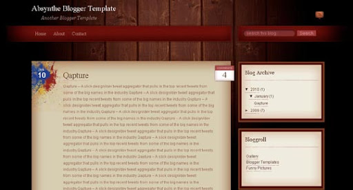 Absynthe Huge Compilation of Best Blogger Templates Released in 2010 | Blogspot Toolbox