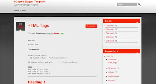 eDegree Huge Compilation of Best Blogger Templates Released in 2010 | Blogspot Toolbox