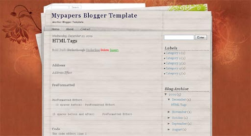 Mypapers Huge Compilation of Best Blogger Templates Released in 2010 | Blogspot Toolbox