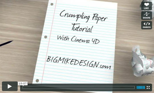 Paper+Crumple+Tutorial+in+Cinema+4D Ultimate Round Up of Exceptional Cinema 4D Tutorials and Screencasts