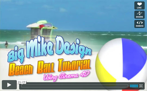 Beach+Ball+Tutorial+in+Cinema+4D Ultimate Round Up of Exceptional Cinema 4D Tutorials and Screencasts