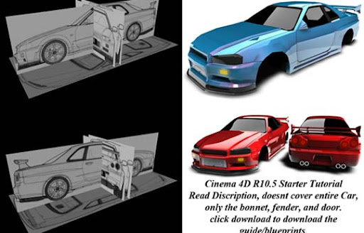 Skyline+R34+Starter+Tutorial Ultimate Round Up of Exceptional Cinema 4D Tutorials and Screencasts