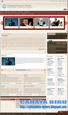 Zinmag Futura Blogger template