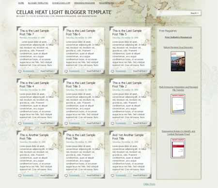 cellar+heat+light+blogger+template Roundup Of Best Blogger Templates