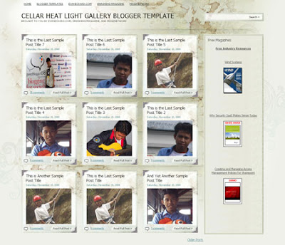 Cellar Heat LightBlogger template