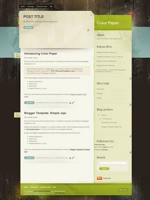 Color+paper+blogger+template Roundup Of Best Blogger Templates
