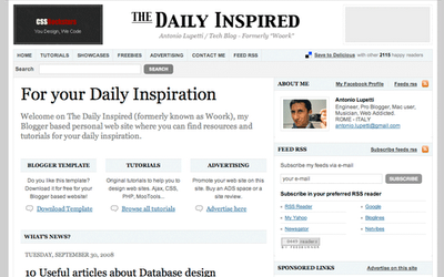 The Daily Inspired by Woork Blogger template