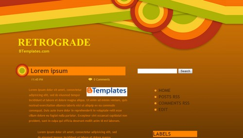 retrograde+blogger+template Roundup Of Best Blogger Templates