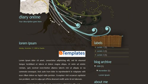 diaryonline+blogger+template Roundup Of Best Blogger Templates