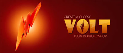 create a glossy volt icon in photoshop Designers Digest  Resources and Inspiration for Designers!