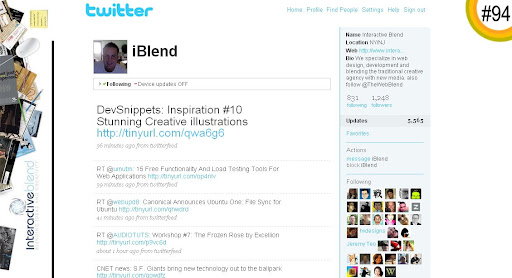 iBlend 100+ Incredible Twitter Backgrounds