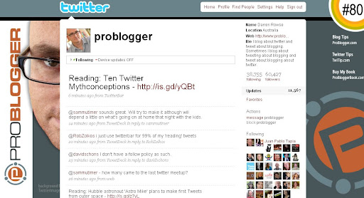 problogger 100+ Incredible Twitter Backgrounds