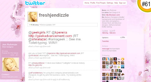 freshjendizzle 100+ Incredible Twitter Backgrounds
