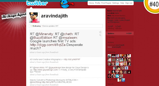 aravindajith 100+ Incredible Twitter Backgrounds
