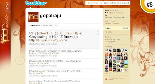 gopalraju 100+ Incredible Twitter Backgrounds