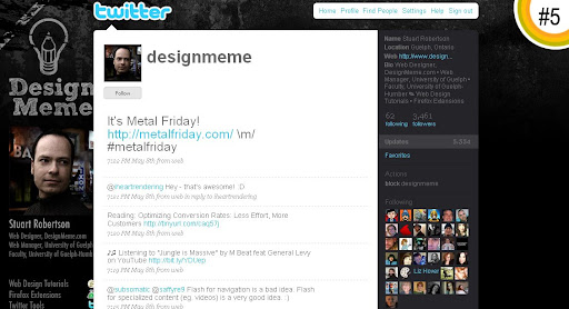 designmeme 100+ Incredible Twitter Backgrounds