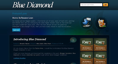 Blue+Diamond Visually Impressive and Smashing Blogger Templates