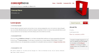 conceptnova Visually Impressive and Smashing Blogger Templates