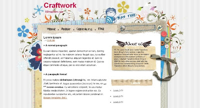 craftwork Visually Impressive and Smashing Blogger Templates