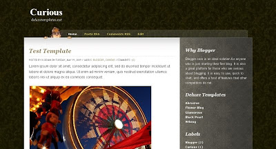 curious Visually Impressive and Smashing Blogger Templates