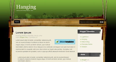 hanging Visually Impressive and Smashing Blogger Templates