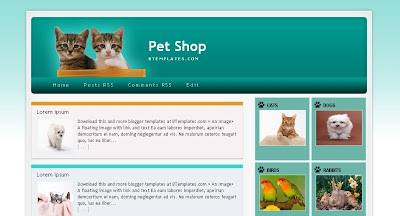 Pet+Shop Visually Impressive and Smashing Blogger Templates