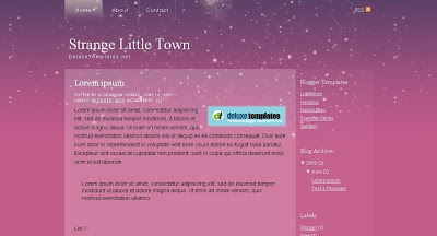 Strange+Little+Town Visually Impressive and Smashing Blogger Templates