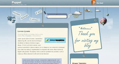Puppet Visually Impressive and Smashing Blogger Templates
