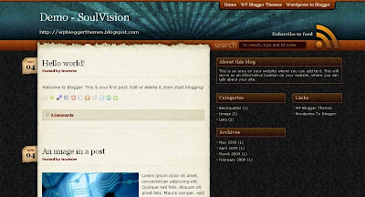 soulvision Visually Impressive and Smashing Blogger Templates