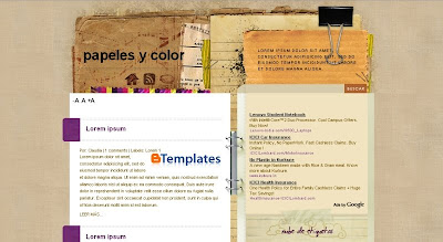 Papeles+y+Color Visually Impressive and Smashing Blogger Templates