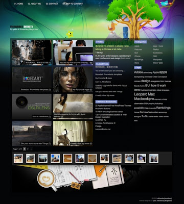 infinity+psd Quality Free Blogger Templates + PSD Source Files