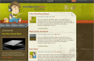 Wordpress+Fun Quality Free Blogger Templates + PSD Source Files